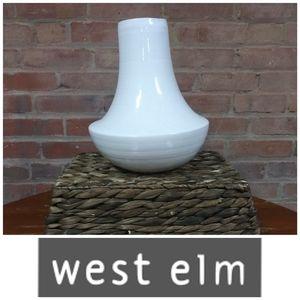 West Elm | Ceramic Circular Vase White